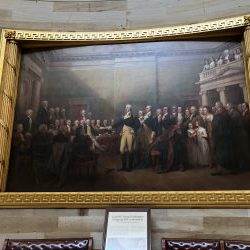 Portrait of Washington resigning his commission at Annapolis - US Capitol Rotunda