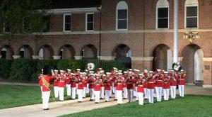Evening Parade at the Marine Corps Barracks, Washington