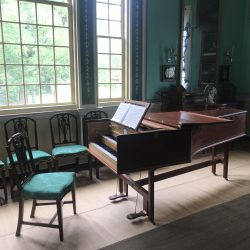 Nellie Custis' Harpsicord at the New Room Mount Vernon